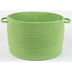"WearEver Key Lime Poly 18"" x 12"" Basket"