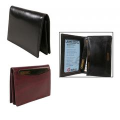 Japanese Drum Dyed Cowhide Leather, Men or Womens' Business Card Case with Gusset