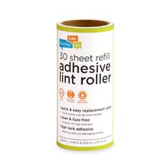 6-Pack Of 30 Sheet Lint Roller Refills, White W/ Green Handle