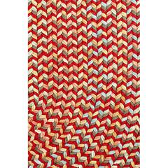 "Rhody Rug Cypress Brilliant Red 18"" x 36"" Slice"