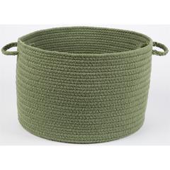 "Rhody Rug WearEver Olive Poly 18"" x 12"" Basket"