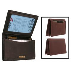 CHAMOIX Leather Men or Womens' Business Card Case with Gusset