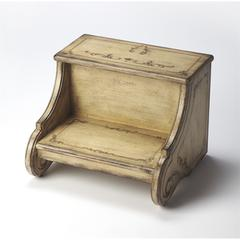 Sussex Gilted Cream Step Stool, Gilted Cream