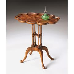 Lloyd Olive Ash Burl Oval Accent Table, Olive Ash Burl