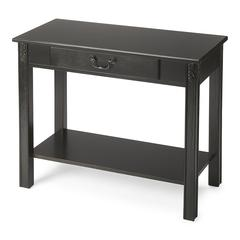Sheridan Black Licorice Console Table, Black Licorice