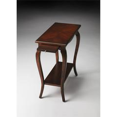 Sabrina Plantation Cherry Chairside Table, Plantation Cherry
