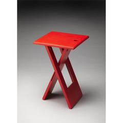 Hammond Red Folding Table, Red