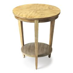 Serenade Driftwood Round Accent Table, Driftwood