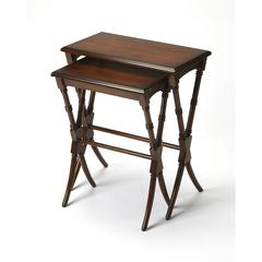 Arabella Antique Cherry Nesting Tables, Antique Cherry