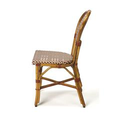 Leena Rattan Side Chair, Brown