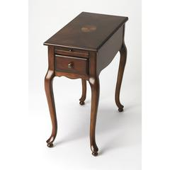 Croydon Plantation Cherry Chairside Table, Plantation Cherry