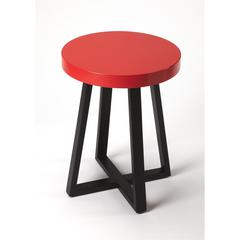 Bram Red & Black End Table, Loft