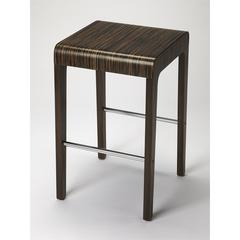 Blach Zebrawood Counter Stool, Loft