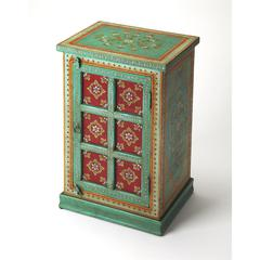 Madhu Hand Painted Accent Chest, Artifacts