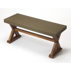 Portland Concrete & Wood Bench, Loft