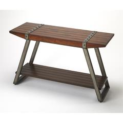Lamont Iron & Wood Console Table, Industrial Chic