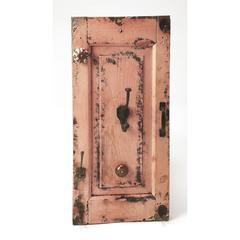 Neely Rustic Pink Wall Mount Hook Rack, Hors D'oeuvres