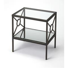 BUTLER METROPOLIS METAL & MIRROR SIDE TABLE