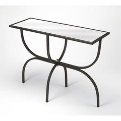 BUTLER ELON METAL & MIRROR CONSOLE TABLE