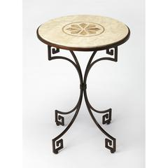 BUTLER RHEA FOSSIL STONE SIDE TABLE