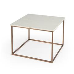 BUTLER HOLLAND MARBLE & METAL COCKTAIL TABLE