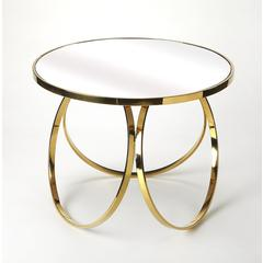 Butler Prentiss Polished Gold End Table