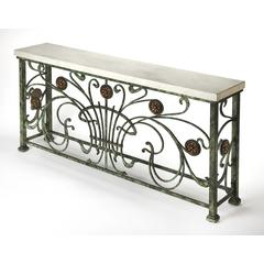 Butler Ramona White Stone Console Table