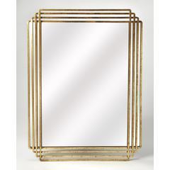 Butler Uptown Gold Rectangular Wall Mirror