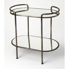 Butler Cicero Metal & Mirror Serving Table