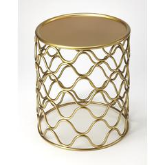 Butler Glendale Antique Gold Accent Table