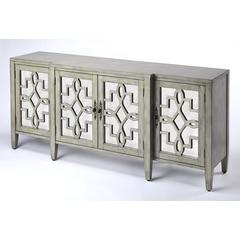 Butler Giovanna Olive Gray Mirrored Sideboard