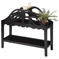 Graves Black Licorice Plant Stand, Plum Black