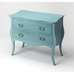Rochelle Distressed Blue Drawer Chest, Rustic Blue
