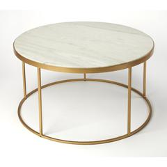 Butler Triton White Marble Coffee Table