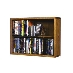 Wood Shed Solid Oak 2 Row Dowel DVD Cabinet Tower