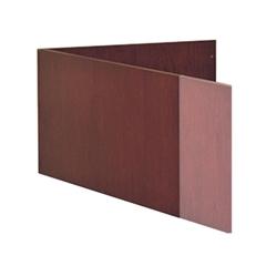 "Mayline Corsica Veneer Series L-Shaped Reception Screen - 48"" Width x 20.3"" Depth x 14"" Height - Beveled Edge - Hardwood, Wood - Sierra Cherry, Veneer"