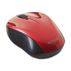 Verbatim Mouse - Optical - Wireless - Radio Frequency - Red - USB - 1000 dpi - Scroll Wheel - 2 Button(s) - Symmetrical