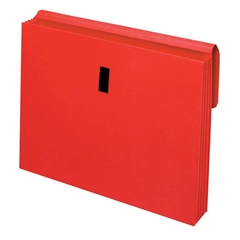 """Globe-Weis Colored Expanding Wallet with Flap - Letter - 8.50"""" x 11"""" Sheet Size - 875 Sheet Capacity - 3.50"""" Expansion - Red - Recycled - 1 Each"""