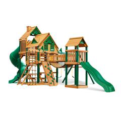 Treasure Trove Treehouse Swing Set W Timber Shield