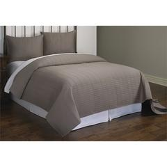 Christopher Grey Rectangle Stitch 3pc Quilt Set Queen, Grey
