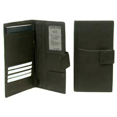 Bond Street Drum Dyed Soft Touch Leather Travel Wallet for the Executive with Tab Closure