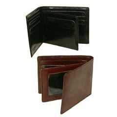 Bond Street, Hand Stained Italian Leather, Classic Billfold Wallet with Wing