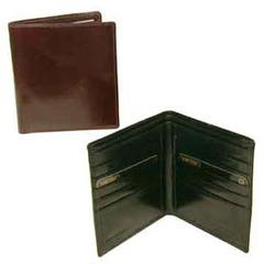 Hand Stained Italian Leather, Executive Hipster Wallet
