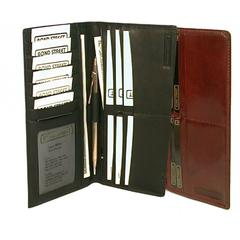 Bond Street Italian Leather Breast Pocket Secretary with Inside Zipper
