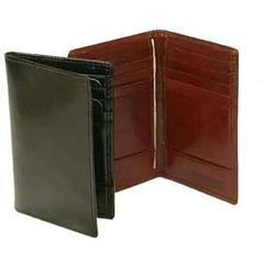 Hand Stained Italian Leather, Business Card Caddy Wallet