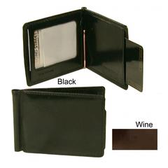 Bond Street, Hand Stained Italian Leather,  Clip Fold Money Bill Clip Wallet