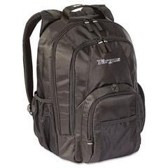 """Targus 15.4"""" Groove Laptop Backpack, Nylon, 13 x 7-3/4 x 18, Black"""