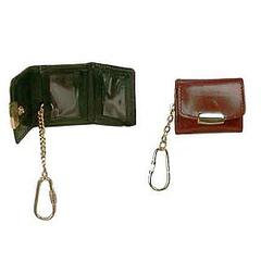 Bond Street, Hand Stained Italian Leather Picture Frame Keychain in Black