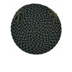 "Rhody Rug Mayflower Verdant 15"" Chair Pad"