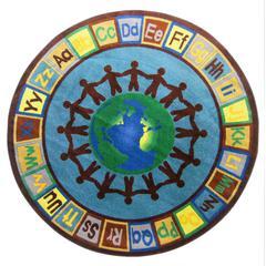 Earth Tone Alpha World Round